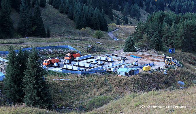 Кок-Жайляу строительство подстанции 17 сентября 2015 года