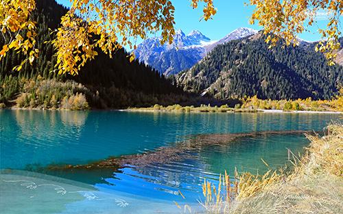 Осень в горах (фотообои)
