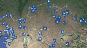 карта источников выбросов рк