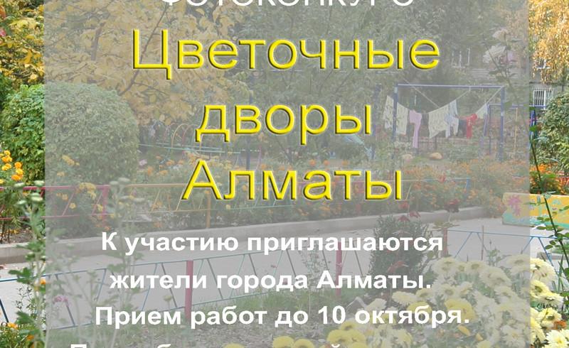 Фотоконкурс  «Цветочные дворы Алматы»
