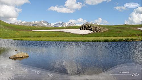 Пейзаж с озером (фотообои)