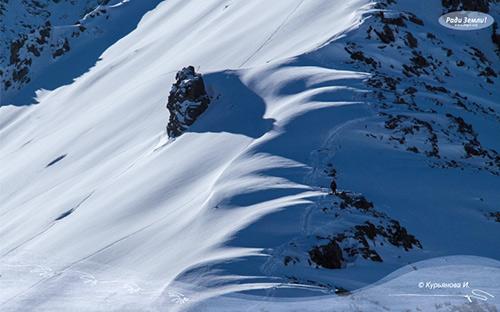 Снежный склон (фотообои)