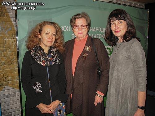 С членами жюри детского конкурса Эльвирой Ворониной и Татьяной Соловьевой (слева направо)