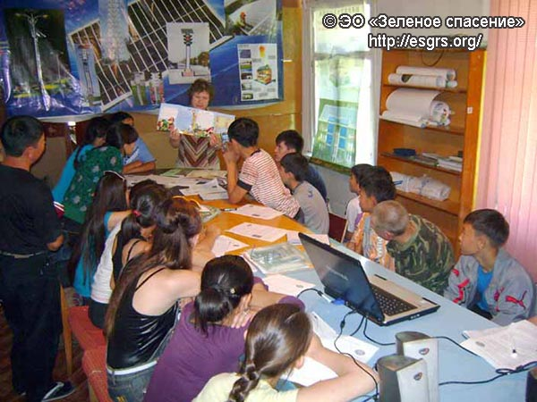 Участие сотрудников ЭО «Зелёное спасение» в семинаре-тренинге в летнем экологическом лагере