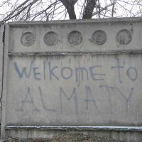Almaty – city of contrasts.  View of a foreign tourist
