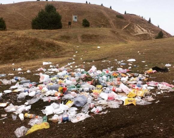 Продолжение мусорной истории на Кок-Жайляу