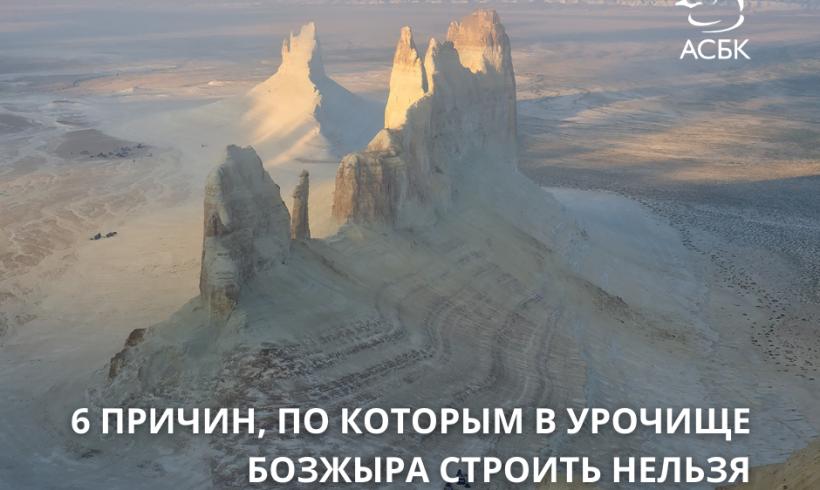 Экспертное мнение: на Устюрте в урочище Бозжыра строить нельзя